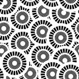 Seamless pattern with white and black circles Royalty Free Stock Images