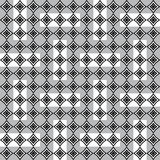 Seamless pattern with white and black rhomboid shapes Stock Photography