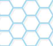 Seamless pattern - White and blue hexagonal texture Stock Photos