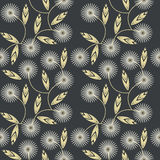 Seamless pattern with white camomile flowers Royalty Free Stock Photos