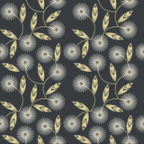 Seamless pattern with white camomile flowers Royalty Free Stock Image