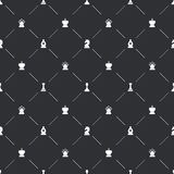 Seamless pattern with white chess icons for book endpaper Royalty Free Stock Photography