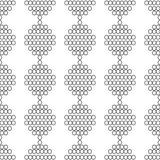 Seamless pattern of white circles with the contour Royalty Free Stock Photography