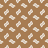 Seamless pattern white curl curve Royalty Free Stock Photos