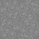 Seamless pattern with white curlicue Stock Images