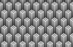 Seamless pattern of white 3d cubes forming tower shapes. A seamless three-dimensional pattern of white cubes forming tower shapes Stock Photos