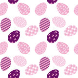 Seamless pattern with white Easter eggs and polka dots Royalty Free Stock Image