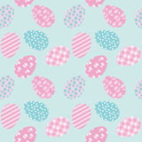 Seamless pattern with white Easter eggs Stock Images