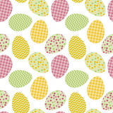Seamless pattern with white Easter eggs Royalty Free Stock Images