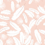 Seamless pattern white feathers royalty free illustration