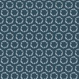 Seamless pattern with white floral wreaths on dark blue background. Seamless pattern can be used for scrapbooking, wallpaper, cards and so on Royalty Free Stock Images