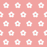 Seamless pattern white flower art Stock Photography