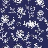 Seamless pattern of white flower Stock Image