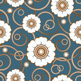 Seamless pattern with a white flowers Stock Images