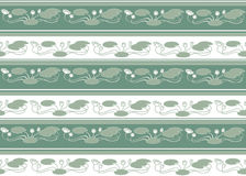 Seamless pattern with white flowers. Seamless pattern from motives of water lilies in a retro style Stock Photo