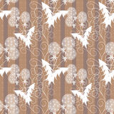 Seamless pattern with white flowers beige background. Seamless pattern with white flowers beige striped background Stock Image