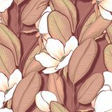 Seamless pattern with white flowers 23 stock illustration