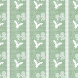 Seamless pattern with white flowers green background Royalty Free Stock Photo