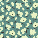 Seamless pattern with white flowers Royalty Free Stock Photos