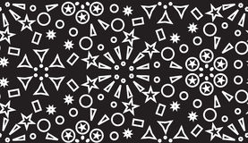 Seamless pattern of the white geometric forms on a black Royalty Free Stock Images