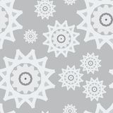 Seamless pattern white gray snow abstract new year Royalty Free Stock Photos