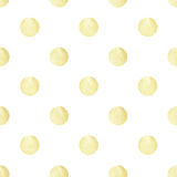 Seamless pattern with white hand-painted pearly circles on white background Stock Photos