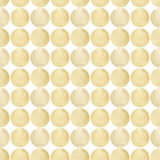 Seamless pattern with white hand-painted pearly circles on white background Royalty Free Stock Images