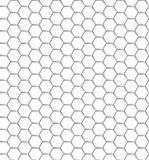 Seamless pattern of the white hexagon net. Transparent background. EPS 10.  Royalty Free Stock Photos