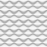 Seamless pattern - white inflated waves Royalty Free Stock Images