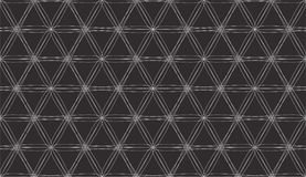 Seamless pattern with White Intersecting Lines on Black background. Vector Royalty Free Stock Images