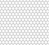 Seamless pattern of the white octagon net. Transparent background. EPS 10.  Stock Photography