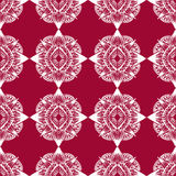 Seamless pattern with white ornaments in bohemian style. Native American vector elements painted with grunge brushes Stock Photo
