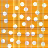 Seamless pattern with white polka dots on a plaid background. Stock Image