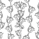 Seamless pattern with white roses on white . Vector illustration Royalty Free Stock Photography