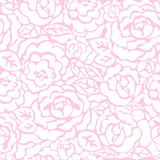 Seamless pattern with white roses Royalty Free Stock Photo
