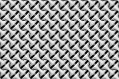 Seamless pattern of white rounded and nested objects Stock Photography