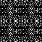 Seamless pattern with white snowflakes Stock Photography