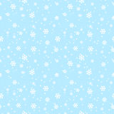 Seamless pattern with white snowflakes Royalty Free Stock Photo