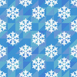 Seamless pattern of white snowflakes Stock Photography