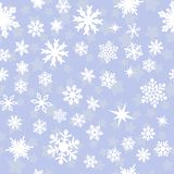 Pattern with white snowflakes Royalty Free Stock Image