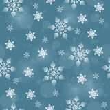 Seamless pattern with white snowflakes royalty free illustration