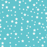 Seamless pattern with white stars on a blue background Stock Photo