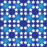 Seamless pattern with white stars Stock Photo