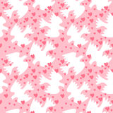 Seamless pattern with white sweethearts Stock Image