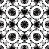 Seamless pattern with white tracery on a black Stock Photography