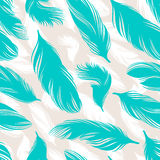 Turquoise feathers Stock Photography