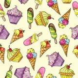 Seamless pattern whith ice cream Stock Photo