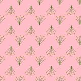 Seamless pattern of wild bouquets on a pink background. royalty free illustration