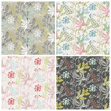 Seamless pattern of wild flowers. Seamless pattern, wild flowers on a gray background Royalty Free Stock Images