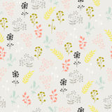 Seamless pattern of wild flowers. Seamless pattern, wild flowers on a gray background Royalty Free Stock Image
